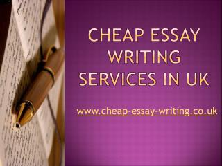 Assignment Writing Services | Cheap Essay Writing UK