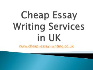 Dissertation Writing Services | Cheap Essay Writing UK