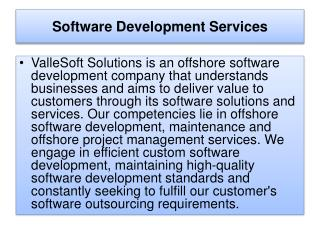 Software Development Services Company