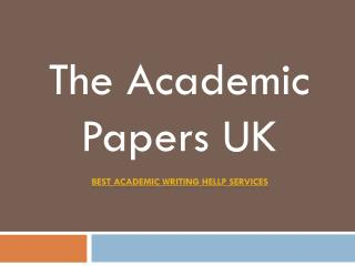 Dissertation Writing Services | The Academic Papers UK