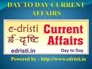 Free Current Affairs PDF downloads by E-dristi,