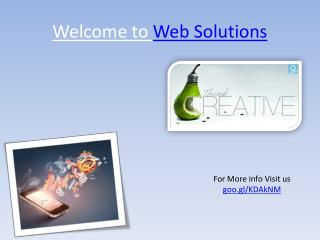 Web solutions in india