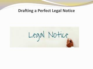 Drafting a Perfect Legal Notice