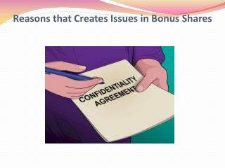 Reasons that Creates Issues in Bonus Shares