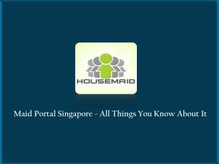 Looking For Maid In Singapore