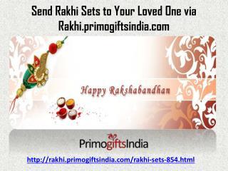 Buy Fabulous Rakhi Sets Online with great ease at rakhi.primogiftsindia.com!!