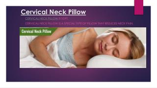 Cervical Neck Pillow