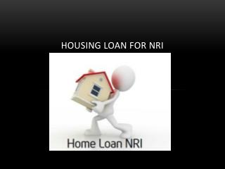 Home Loans for Non Resident Indians