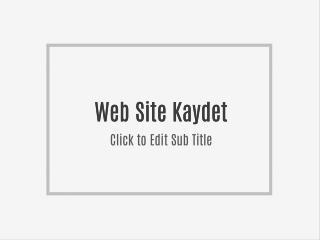 Web Site Kaydet
