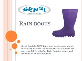 Buy World Class Waterproof Rain boots - Sensi Sandals