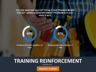 Training reinforcement - Double the value of your trainings