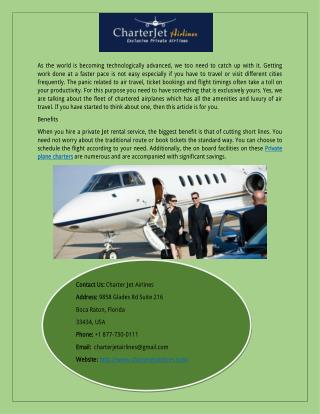 Hire Private Plane Charter