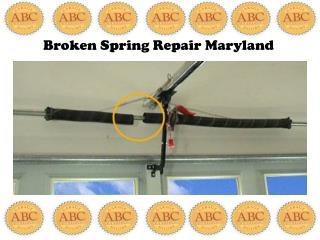Broken Spring Repair Maryland