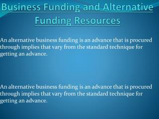 Alternative  Funding Business