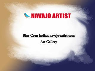 Blue Corn Indian navajo-artist.com Art Gallery