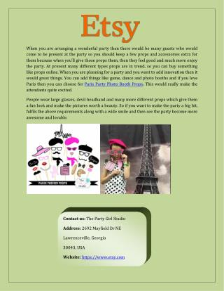 Find Paris Party Photo Booth Props Online