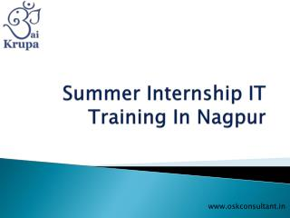 Summer Internship IT Training In Nagpur