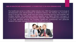 MBA In Healthcare Management For Career