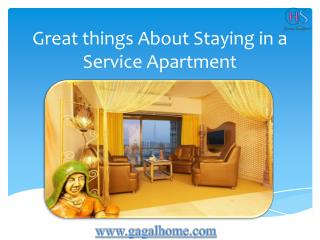 Great Things About Staying in a Service Apartment