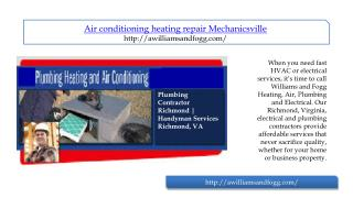 air conditioning heating repair mechanicsville