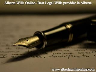 Alberta Wills Online- Best Legal Wills provider in Alberta