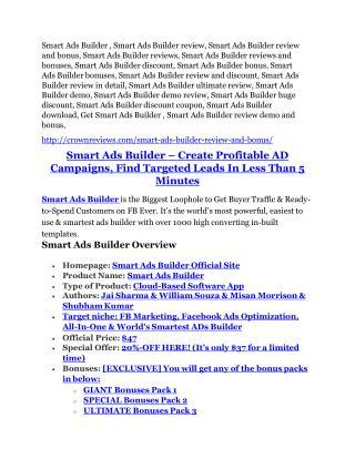 Smart Ads Builder Review & GIANT bonus packs