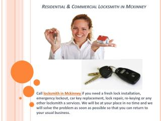 Residential & Commercial Locksmith in Mckinney