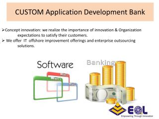 Custome Application Software for Bank | Web Development And Designing