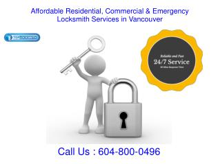 Affordable Residential & Commercial  Locksmith Services in Vancouver