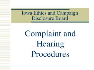 Iowa Ethics and Campaign Disclosure Board