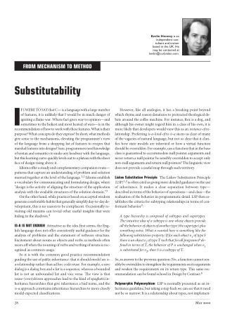 Substitutability