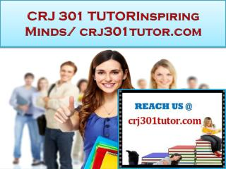 CRJ 301 TUTOR Real Success / crj301tutor.com