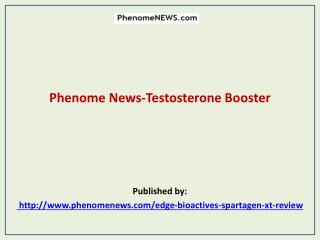 Phenome News-Testosterone Booster