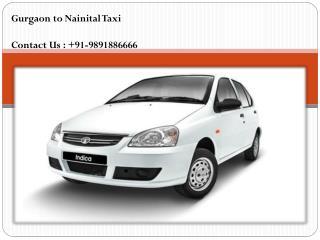Gurgaon to Nainital Taxi
