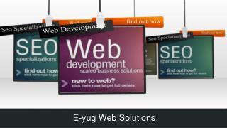 Web consultant Eyug web solutions Gurgaon