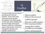 13 Conflict