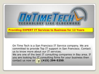 IT Support Services Company in Bay Area, San Francisco