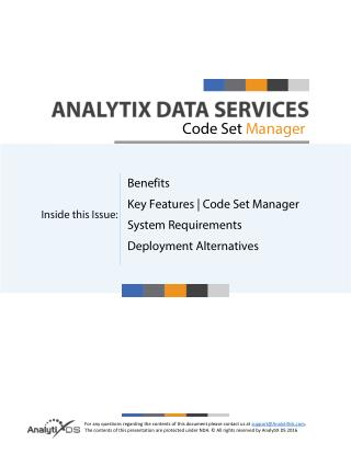 AnalytiX Code Set Manager
