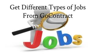 Get Different Types of Jobs From GoContract