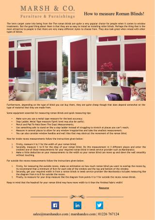 How to measure Roman Blinds!