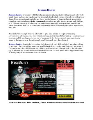 http://www.healthcarebooster.com/rexburn-reviews/