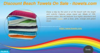 Discount Beach Towels On Sale - itowels.com