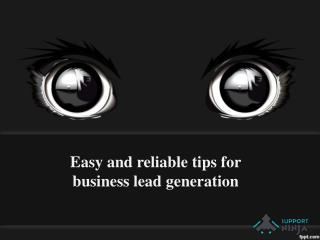 Easy and reliable tips for business lead generation
