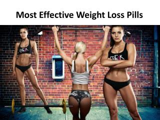 Most Effective Weight Loss Pills