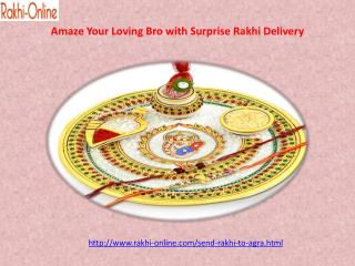 Amaze Your Loving Bro with Surprise Rakhi Delivery in Agra