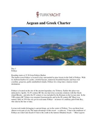 Aegean and Greek Charter