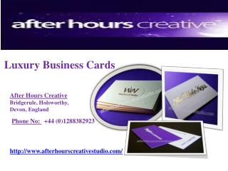 Luxury Business Cards - After Hours