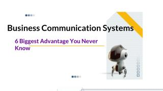 Advantages That Can Be Reaped By Smart Business Communication Systems