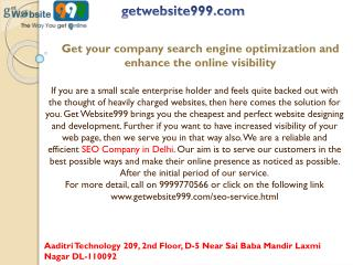 Get your company search engine optimization and enhance the online visibility