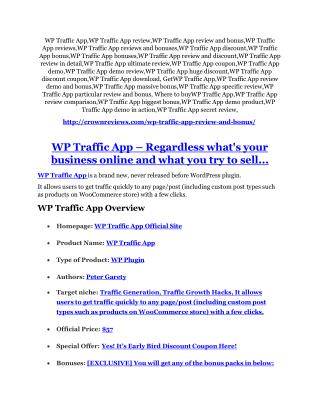 WP Traffic App review and sneak peek demo